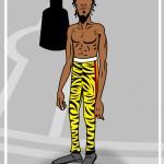 cartoon of angry black performer