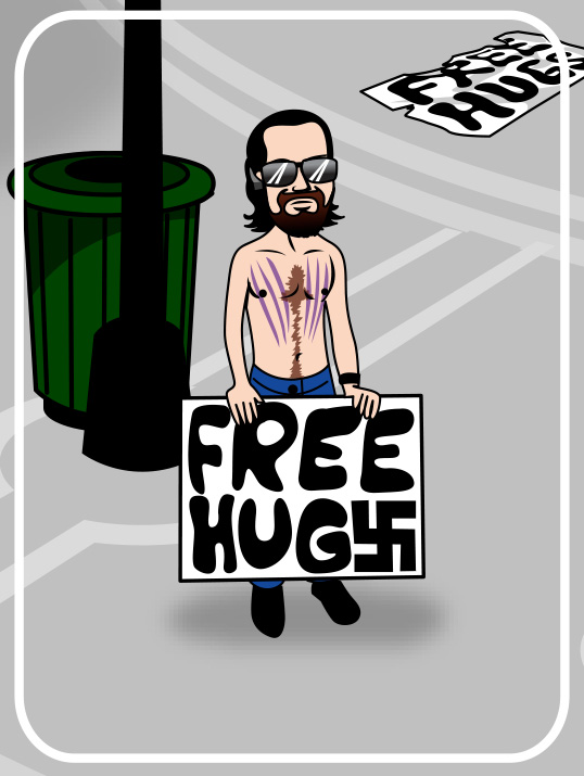 free hugger with swastika on sign