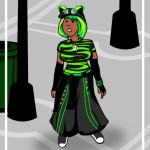 green graver girl cartoon