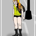 crusty punk girl cartoon