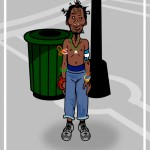 homeless black man cartoon