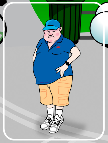 fat man cartoon