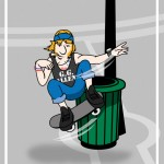 shaggy skater cartoon