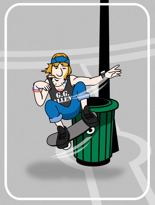 shaggy skater cartoon