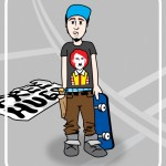 skater cartoon