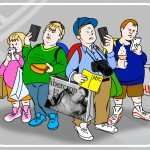 cartoon of tourists