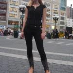 pretty blonde in black