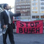 Jason Blank speaking against Bush
