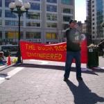 Dennis the Menace speaking out against Bush Regime