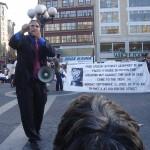 Geoffrey Blank speaking against Bush