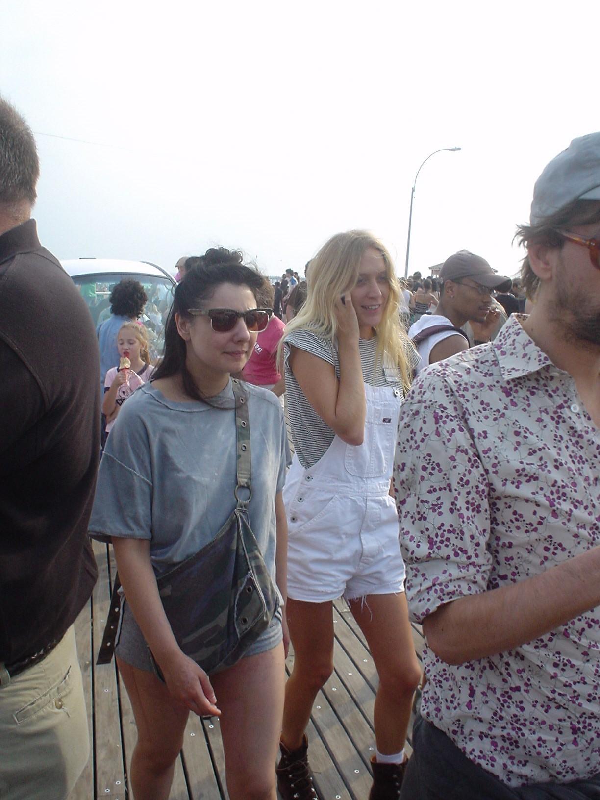 Chloe Sevigny on The Boardwalk at Coney Island
