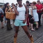 Dorthy on the Boardwalk at Coney Island