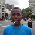 Kid smoking