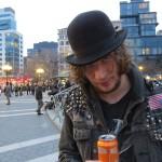 punk kid in clockwork orange hat