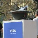 Visa presents #StreetTaps where you can donate money using your credit card