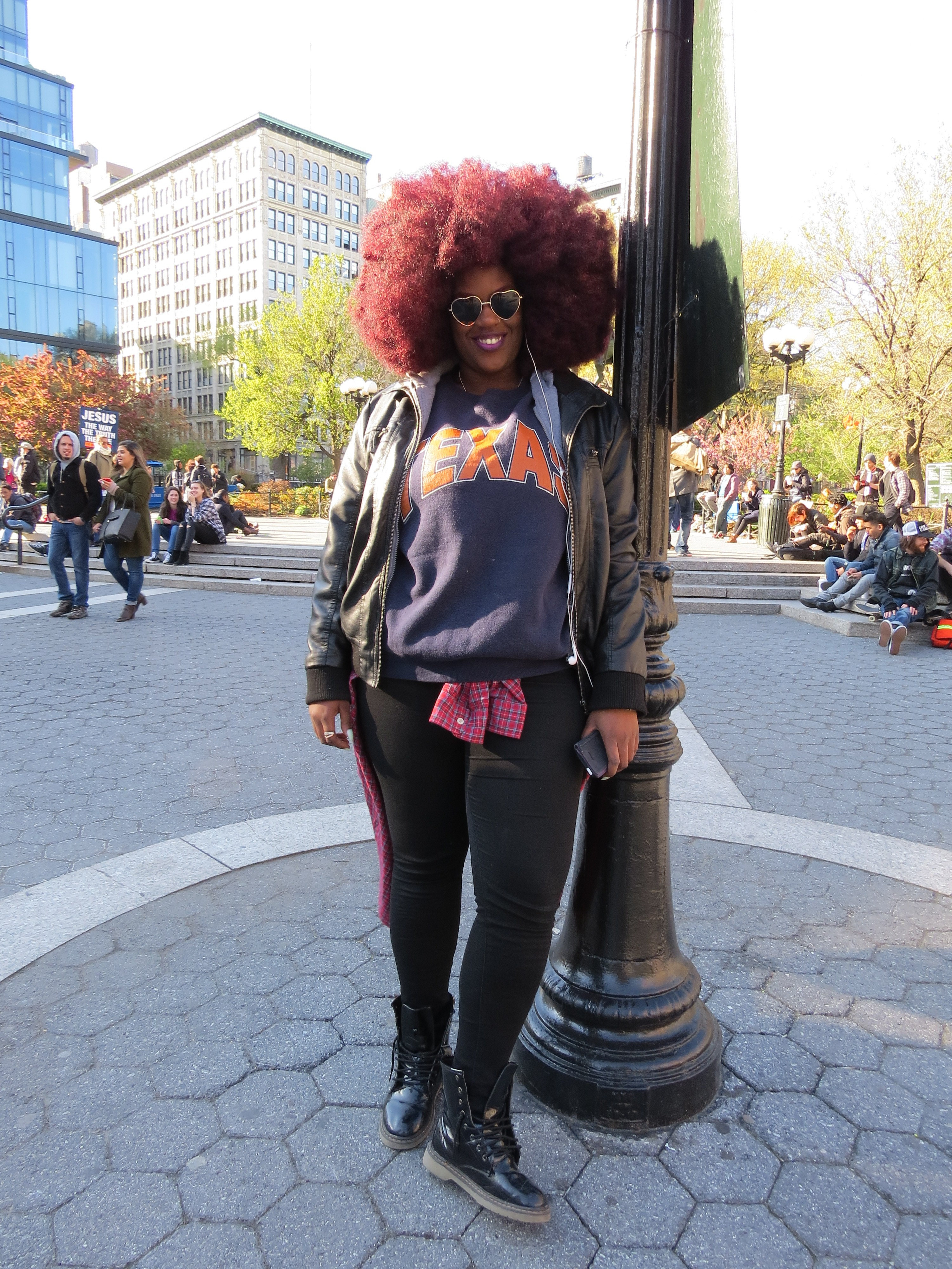 Girl w/Red Fro