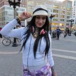 scene girl in hat