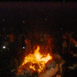 Bonfire in Tompkins Sq