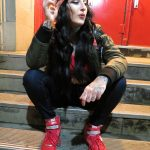 Inna on steps