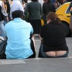 ass crack pants