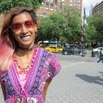 cute girl in pink