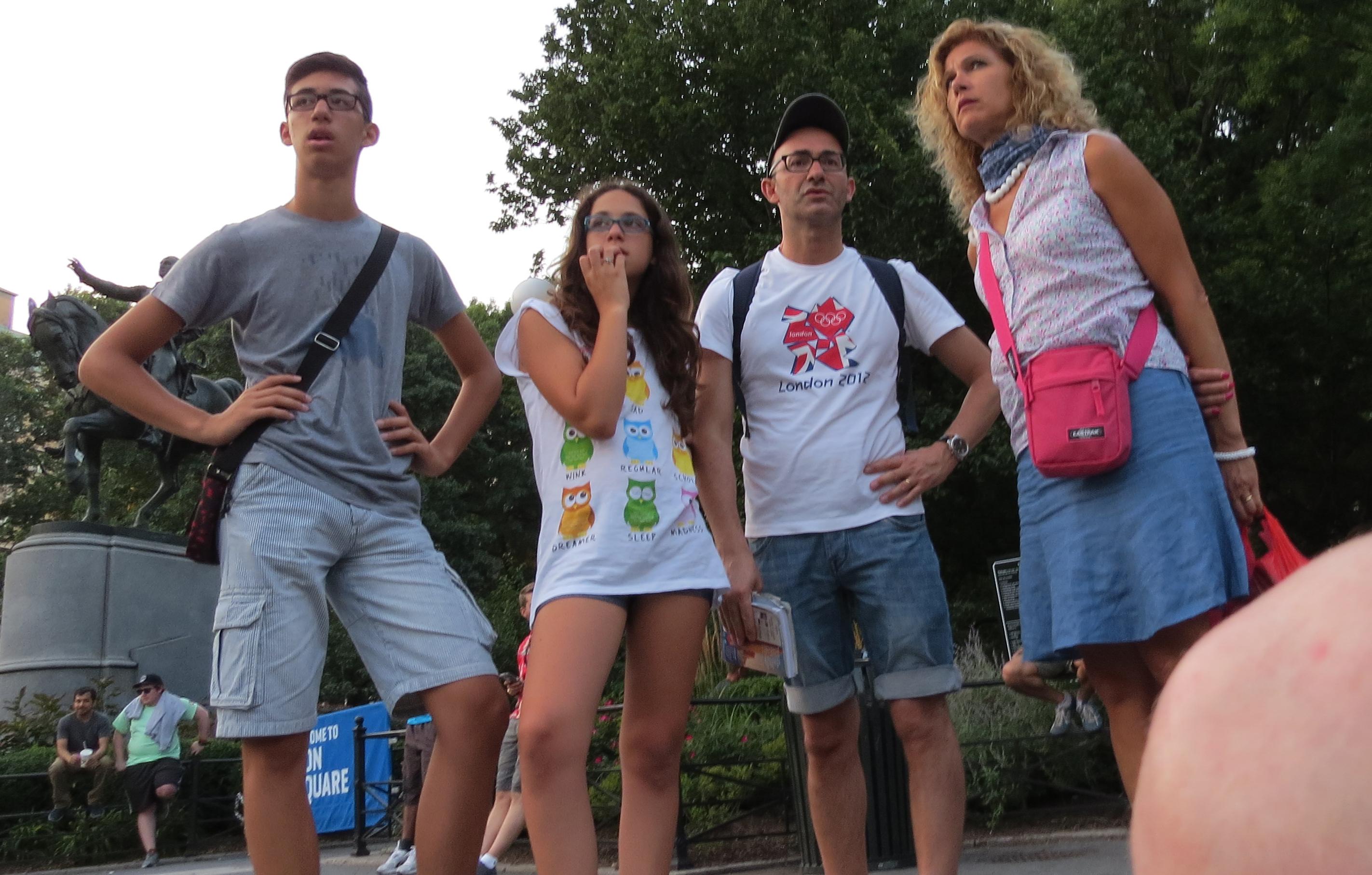 tourist family
