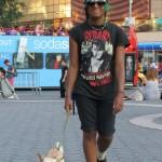 mini crusty girl with dog