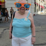 Old Woman in big glasses