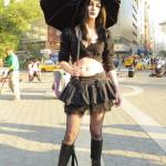goth girl with umbrella