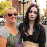 goth girl with her mom