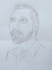Pencil drawing of Normal Bob Smith