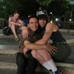 hugging skaters guys