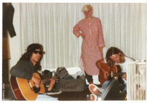 Mark Erika & Steve 1988 Hollywood w/my punkrock suitcase