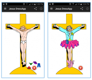 Jesus Dressup App for Droid samples