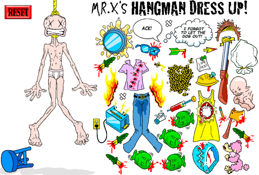 Mr. X Hangman dressup