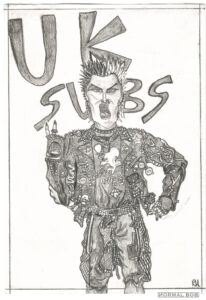 The UK SUBS '88 Drawn the day I sat in a coffee shop with drugs tied to my ankle.