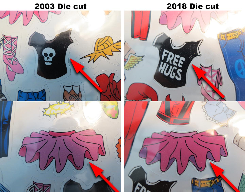 JDU die cut comparrison