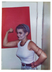 Erika flexing for me 1988 Hollywood CA