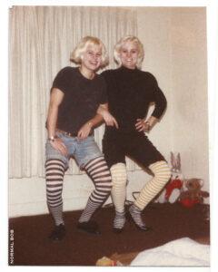 Tiina & Erika striped socks 1988 Hollywood