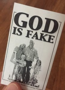 God Is Fake flyer