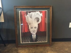 David Lynch framed at Drip Drop