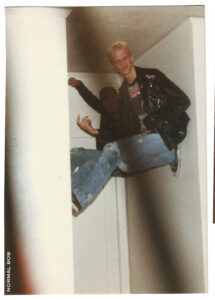 Mark & Bob rock leather jackets & sneakers! 1988 Hollywood