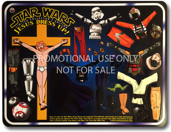 Star Wars Jesus Dressup magnet set for promotional use only. Not for sale.