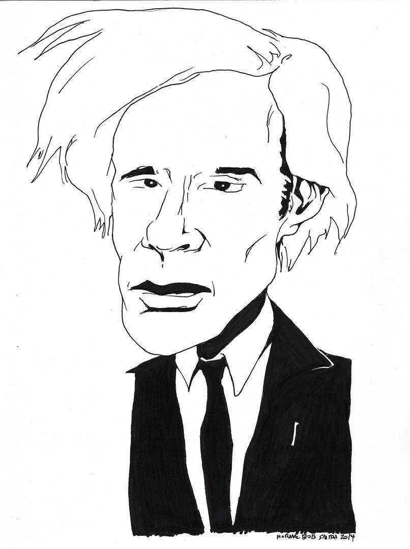 andy warhol portrait pen & ink