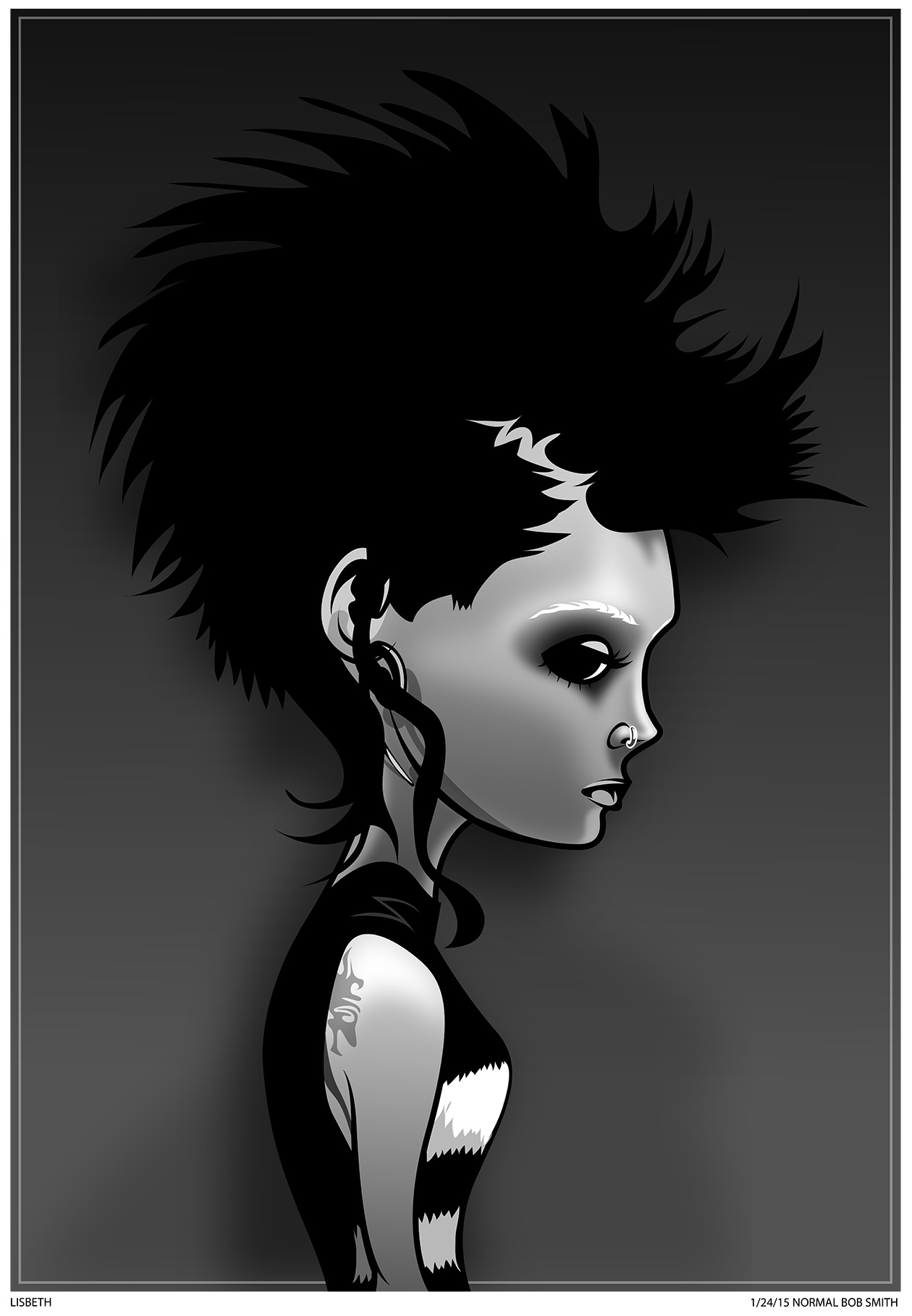 Girl with the Dragon Tattoo art
