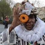 Wendell with a donut