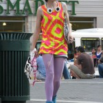 60s style hipster girl