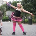 chubby girl in raver tutu