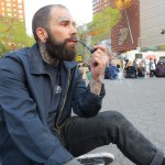 hipster with pipe