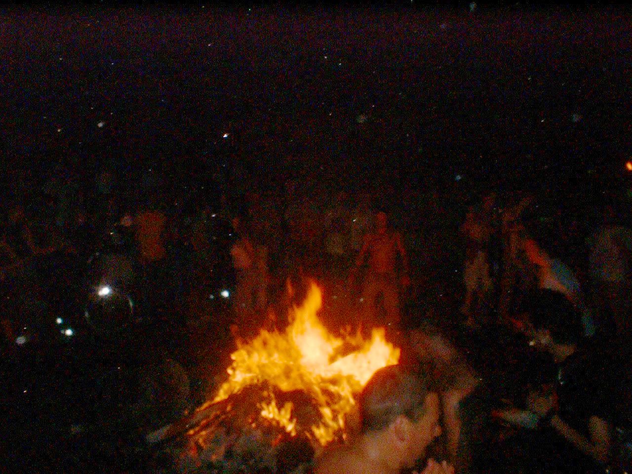 Bonfire in Tompkins Sq